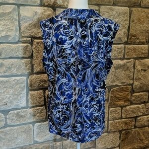 Dana Buchman Tops - Black & Blue Print Dana Buchman Sleeveless Top
